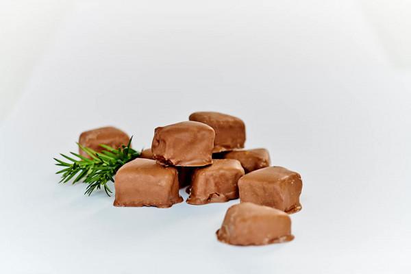 Baumkuchenspitzen mit Vollmilchkuvertüre